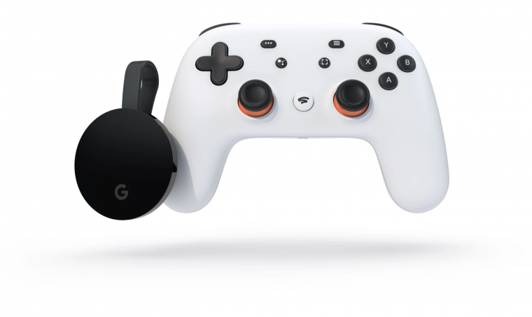 Google Chromecast Ultra met de Google Stadia controller is de perfecte combinatie om te gamen op je televisie.