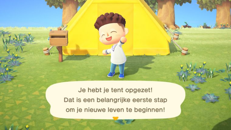 Mijn tent in Animal Crossing New Horizons