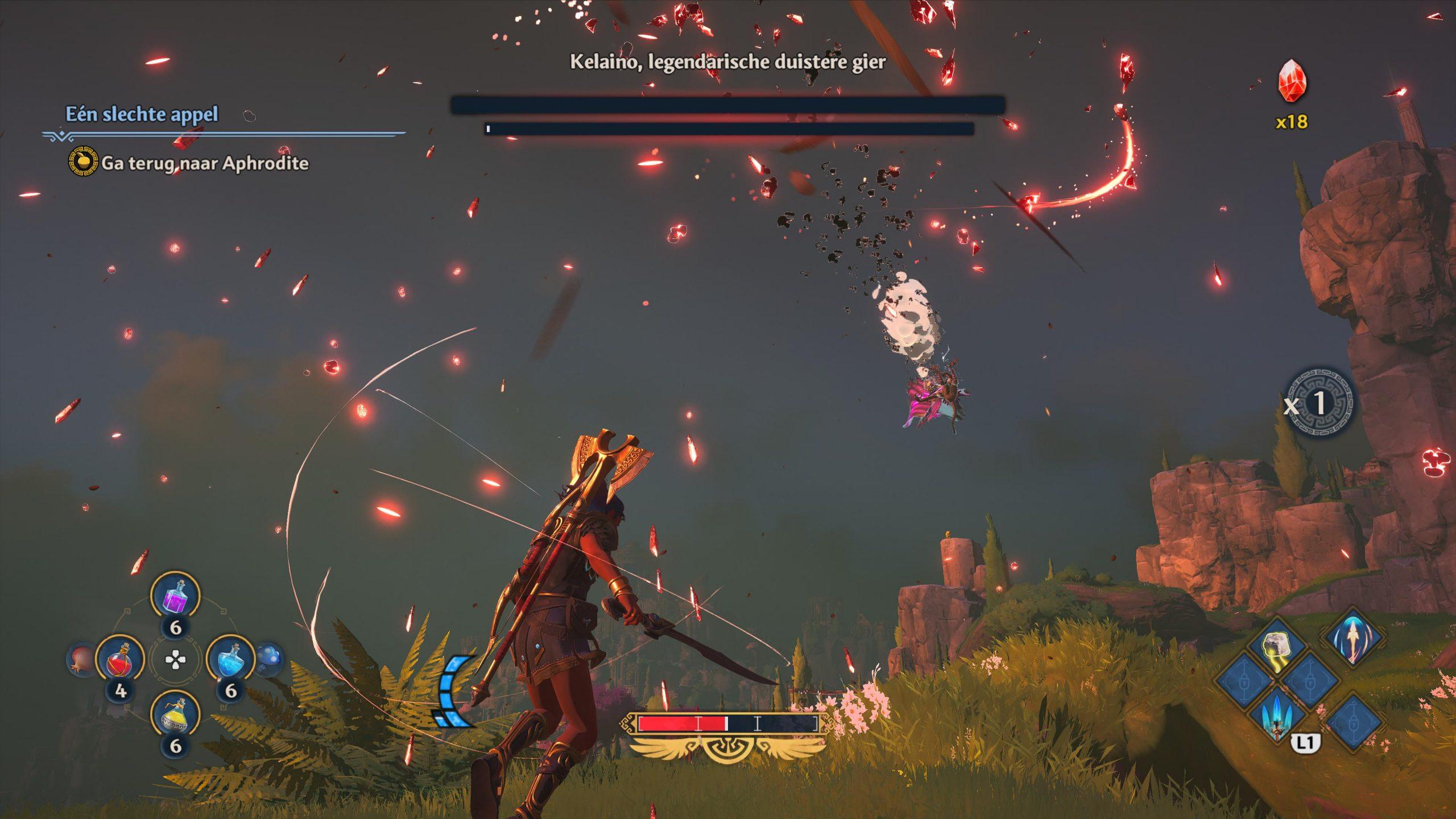 De gevechten voelen heel erg tof in Immortals Fenyx Rising