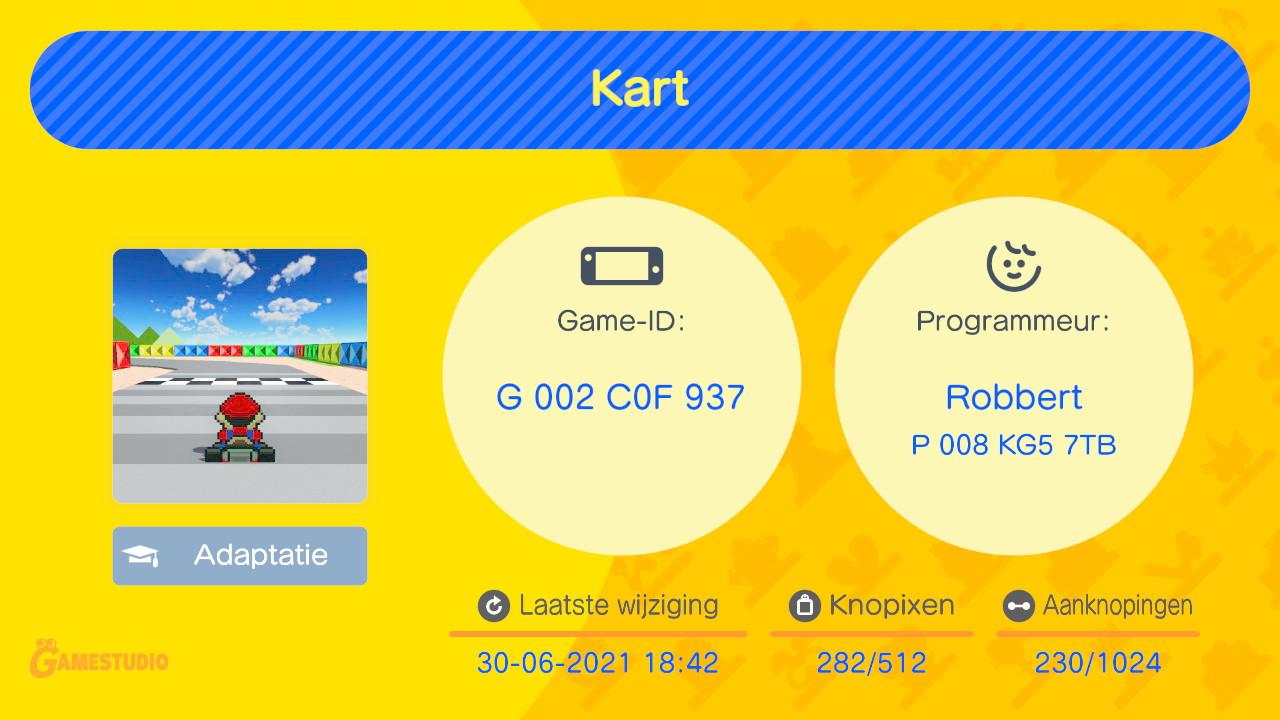 Op Reddit kun je code's van andere spelers vinden zoals deze Mario Kart-game.